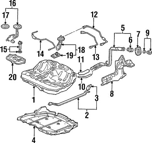 OEM Honda 17713-S30-A02 - Return Tube