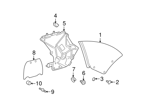 Cover Retainer - Toyota (62761-AA020)