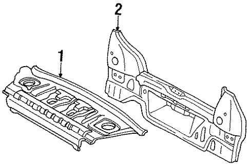 Panel Above Lid - Toyota (64101-16230)