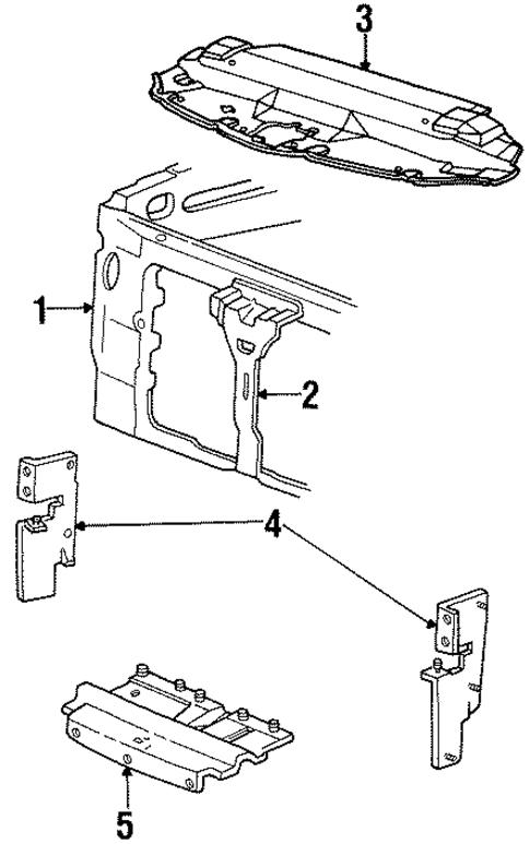 radiator support for 2000 lincoln navigator