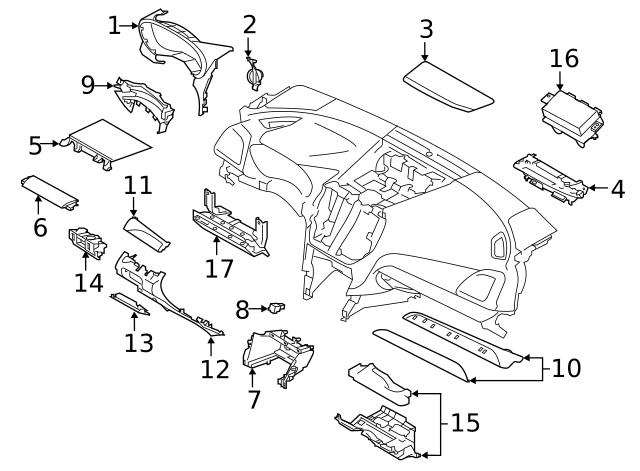 2019 Subaru Forester Switch Panel 83472al040vh