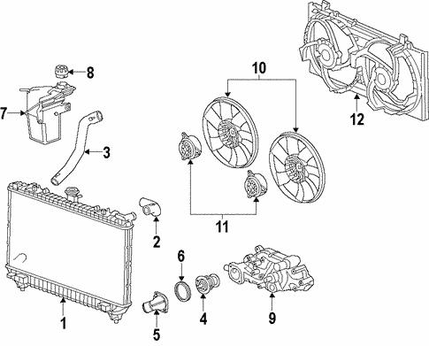 [SCHEMATICS_4ER]  Radiator & Components for 2010 Chevrolet Camaro | GMPartOnline | 2010 Camaro Engine Cooling System Diagram |  | GM Parts Online