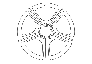 Wheel - Mercedes-Benz (257-401-11-00-7X45)