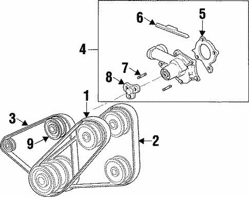 Belts & Pulleys for 1996 Mazda Protege   MazdaSwagMazda Swag