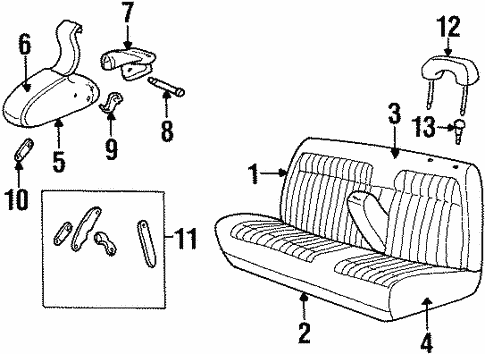 Front Seat Components for 1992 Chevrolet K3500 Pickup