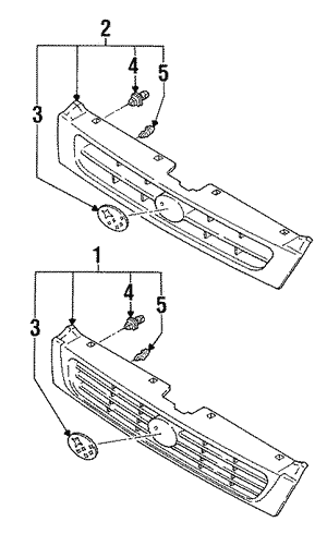 Grille Assembly Retainer Clip