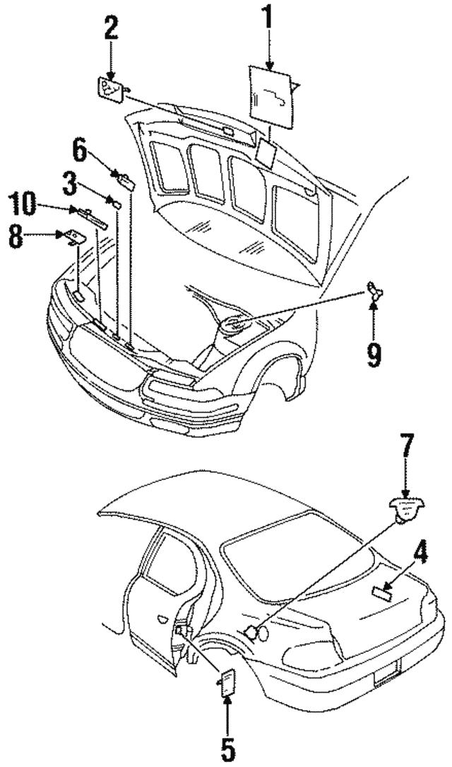 1995 2000 Dodge Stratus Label 4596140ab