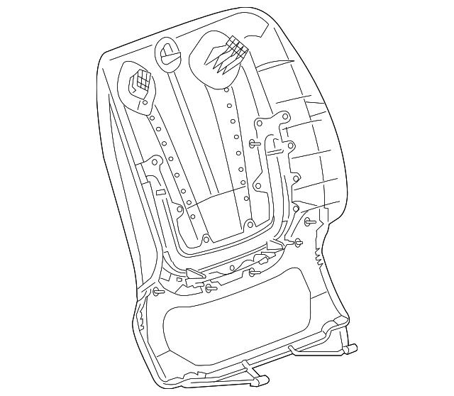 2014 Cadillac ELR Seat Back Panel 22978740