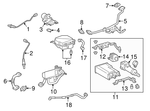 EMISSION SYSTEM/EMISSION COMPONENTS for 2015 Toyota Camry #1