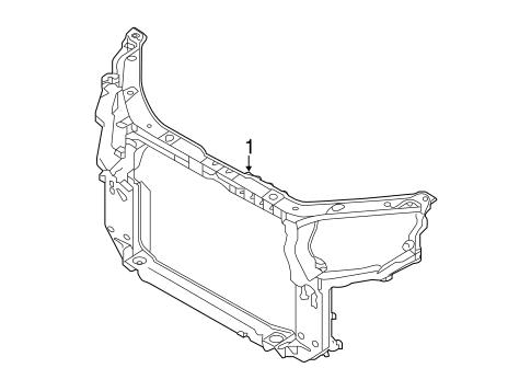 Radiator Support For 2014 Kia Sorento