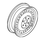 Wheel, Steel - Nissan (40300-1PB5A)