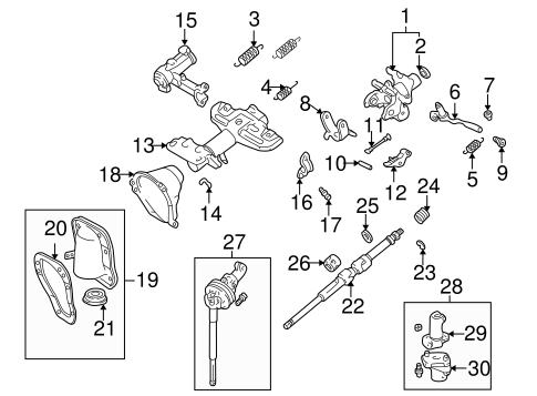 STEERING/STEERING COLUMN ASSEMBLY for 2000 Toyota 4Runner #1
