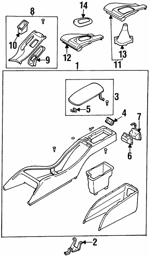 Center Console For 1999 Subaru Legacy