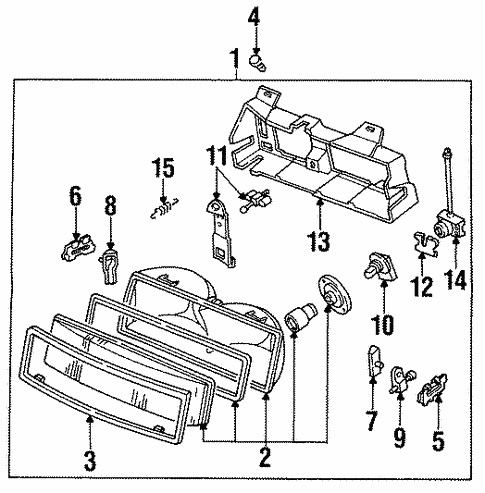 Headlamp Components For 1996 Chevrolet Corsica