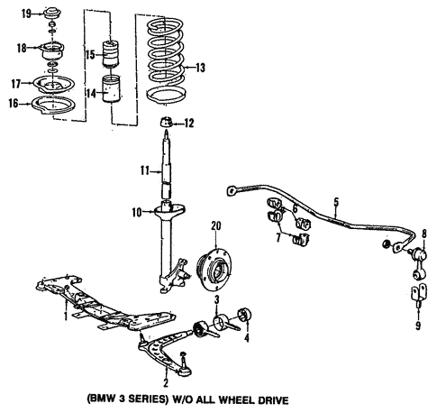 Front Suspension for 1994 BMW 325is #0