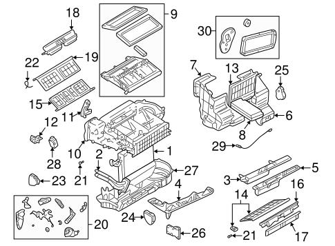 oem 2001 pontiac aztek evaporator heater components parts gmpartsonline net