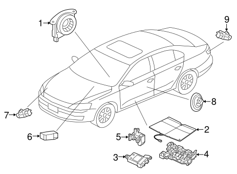 Air Bag Components For 2011 Volkswagen Jetta