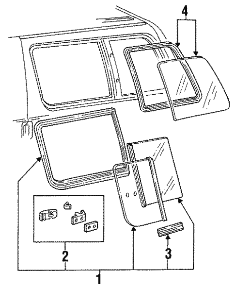 Glass - Side Panel For 1996 Ford Aerostar
