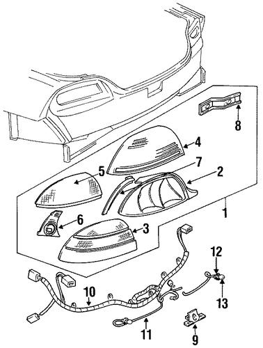 Pontiac Grand Am Sensor Connector 1992 2005 Gm Outlet Parts