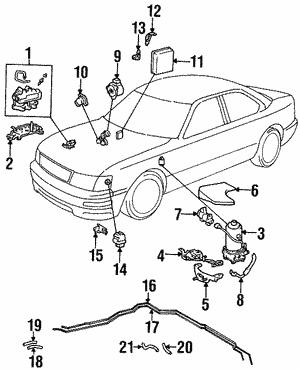 1993 lexu l 450 interior wiring diagram database  belts and hoses toyolexparts 1993 lexu l 450 interior
