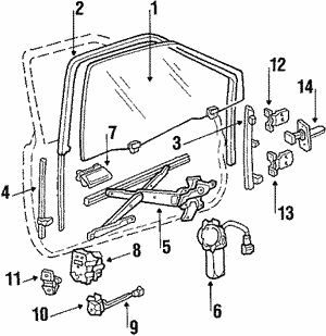 Motor Assembly, R Window