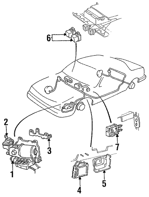 Cadillac Deville Motor Part Diagram