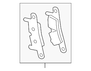 Brake Pad Repair Set - Porsche (991-352-948-82)