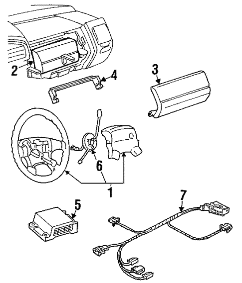 Air Bag Components For 1996 Volkswagen Jetta