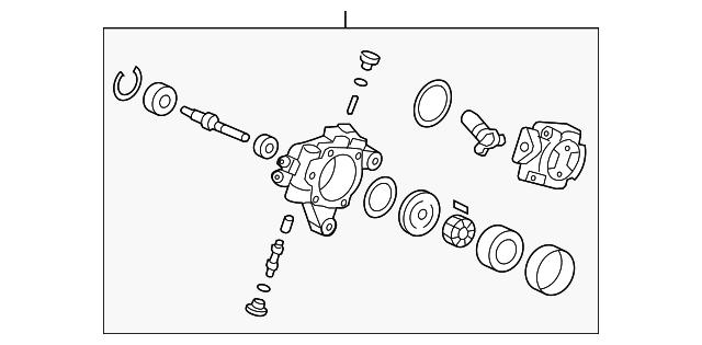 Majestic Honda Parts >> Honda Pump Sub Assembly Power Steering 56110 Rta 013 Majestic