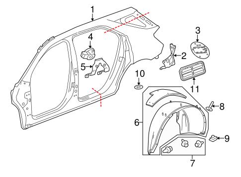 Quarter Panel Components For 2013 Chevrolet Equinox Gmpartonline