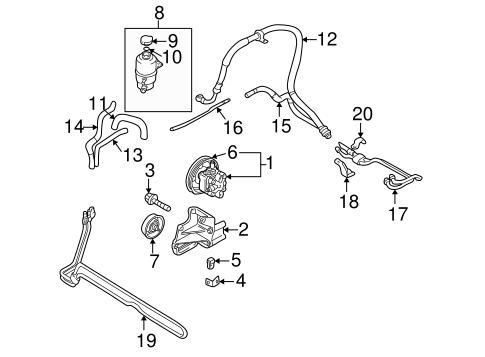 pump  u0026 hoses for 2001 dodge stratus parts