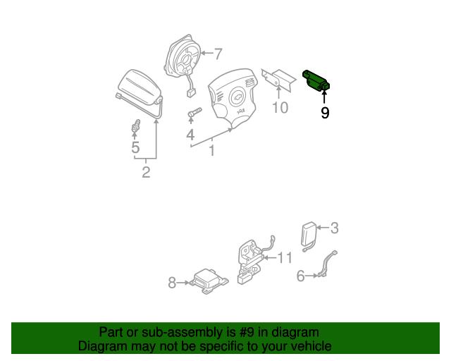 Front Sensor Nissan 98581 3y125 Quirk Parts