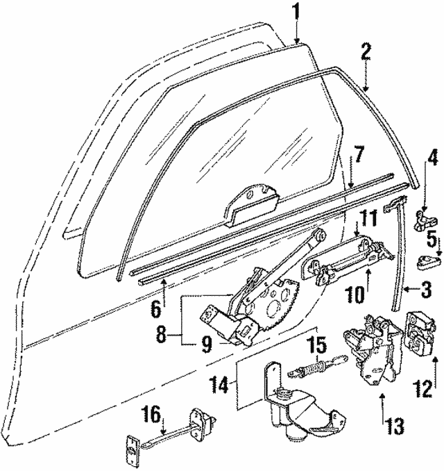 1984 1988 Porsche 928 Lock Actuator 928 624 402 02