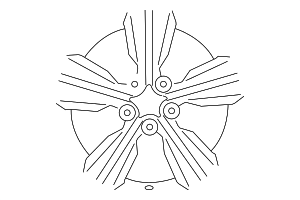 Wheel, Alloy - Hyundai (52905-2V250-EB)