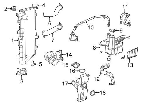 Radiator Components For 2014 Ram 3500