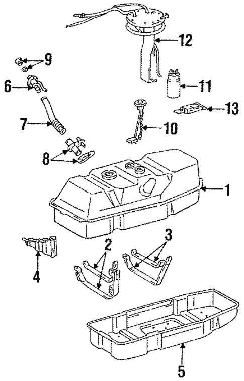 Fuel System Components For 1996 Toyota T100
