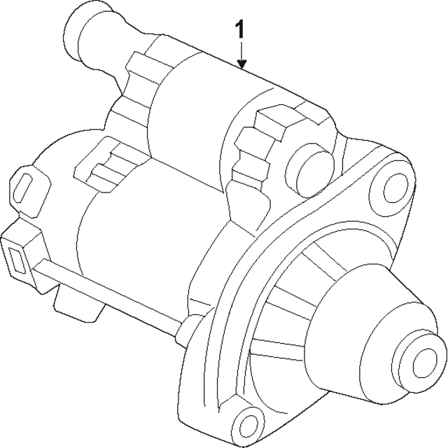 Starter Motor Assembly Sm 74011mitsuba