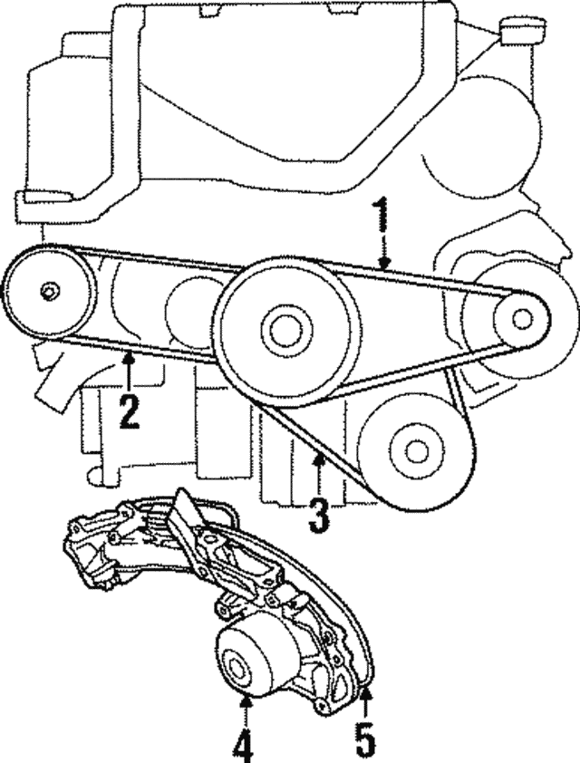 1991 1998 Acura Belt Power Steering Pump Bando U S A 56992 Py3