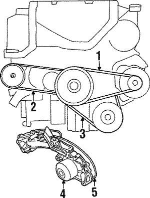 Belt, Power Steering Pump (Bando U.S.A.)