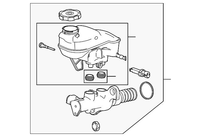 Genuine GM Master Cylinder 20819270
