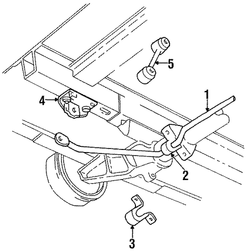 Stabilizer Bar Components For 2000 Chrysler Town Country