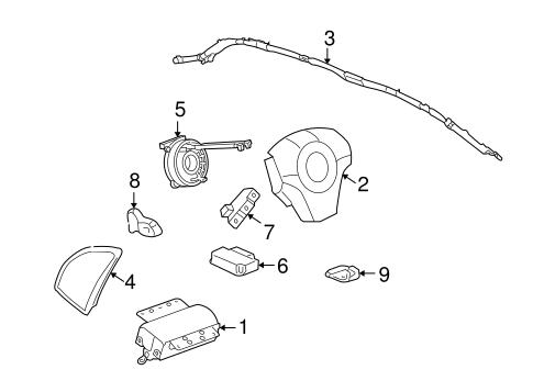Oem 2008 Saturn Vue Air Bag Components Parts