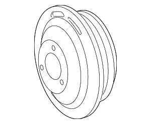 Power Steering Pump Pulley - Mercedes-Benz (000-466-20-15)