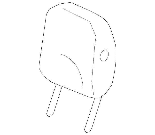 2013 Acura ZDX 5-DOOR Headrest Assembly, Rear (Outer