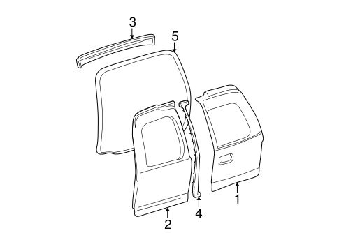 Door Components For 2004 Cadillac Escalade