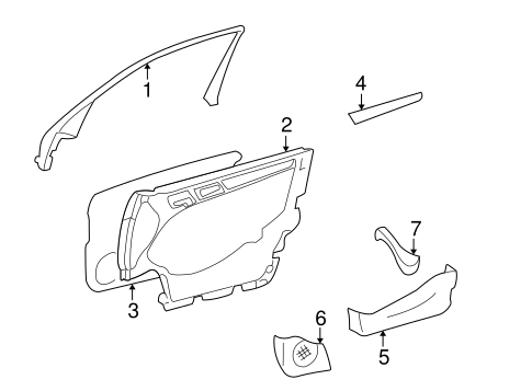 Interior Trim - Front Door for 1999 Mercedes-Benz C 280 #0