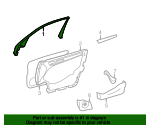 Window Trim - Mercedes-Benz (202-725-01-71-8F20)