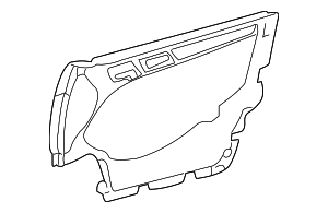 Door Trim Panel - Mercedes-Benz (202-720-01-52-7E02)