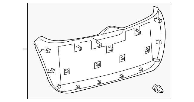 Toyota 64780-0T010-B0 Door Trim Panel Assembly