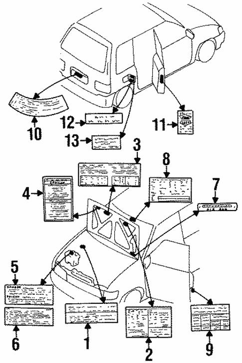 Labels For 1997 Mazda Mpv